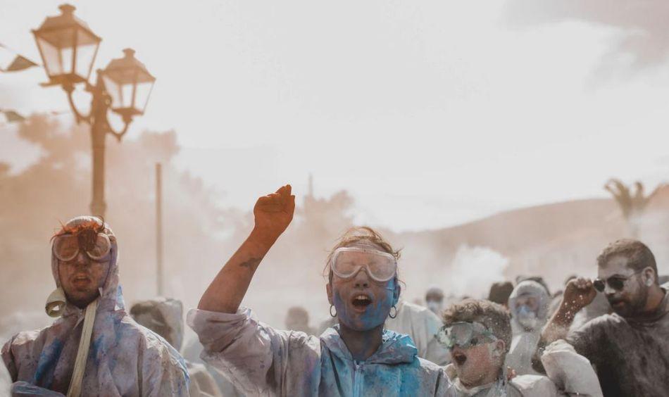 Pigments en poudre pour festival Holi